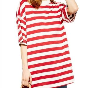 NWT Topshop Stripe Boyfriend T-shirt